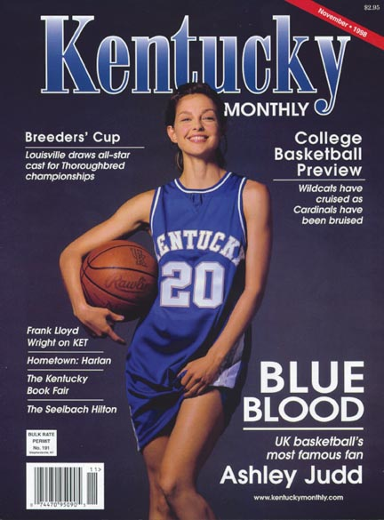 Ashley Judd Kentucky Wildcats fan