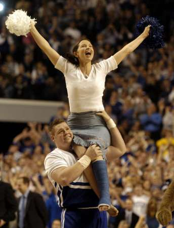 Ashley Judd at UK basketball game